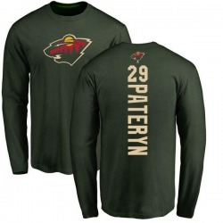 Youth Greg Pateryn Minnesota Wild Backer Long Sleeve T-Shirt - Green